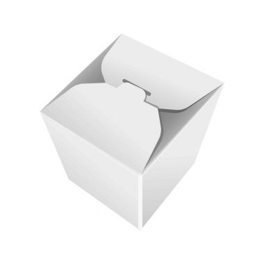 Take away white blank pack isolated vector in flat design.