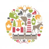 Canada attributes colorful set