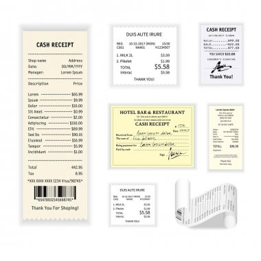 Cash receipts colorful poster