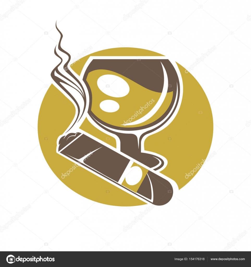 Cigar and glass for wine or whisky logo stock vector sonulkaster depositphotos154176318 stock illustration cigar and glass for wineg biocorpaavc Gallery