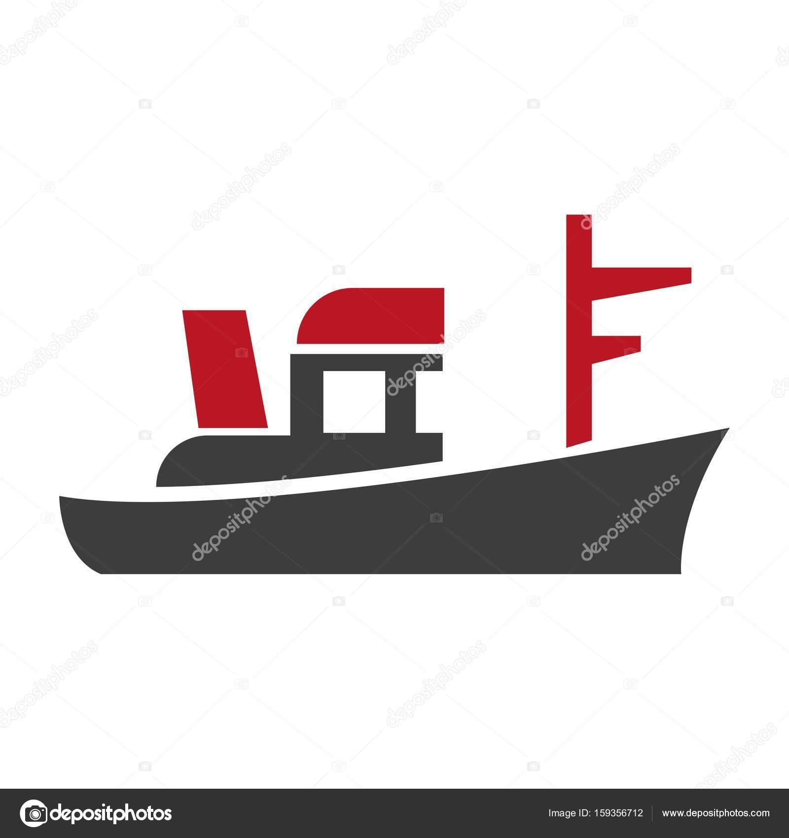 Basit Gemi Logosu Stok Vektör Sonulkaster 159356712