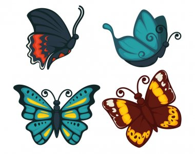 Butterflies icons for decoration