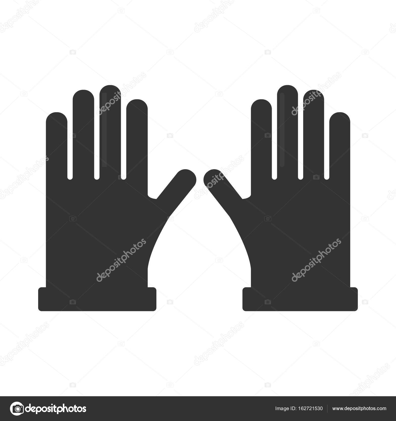 pair of black gloves silhouettes stock vector sonulkaster 162721530