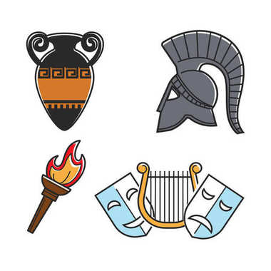 Ancient Greek culture symbols