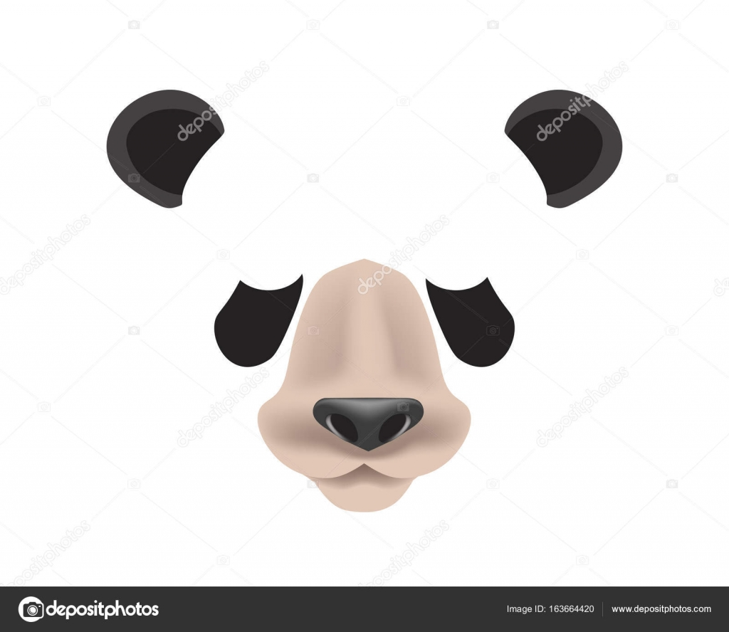 Panda animal face filter template — Stock Vector © Sonulkaster ...