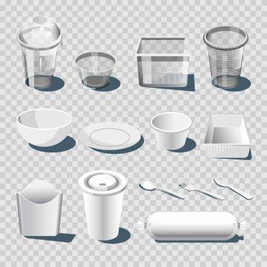 Plastic dishware or disposable tableware