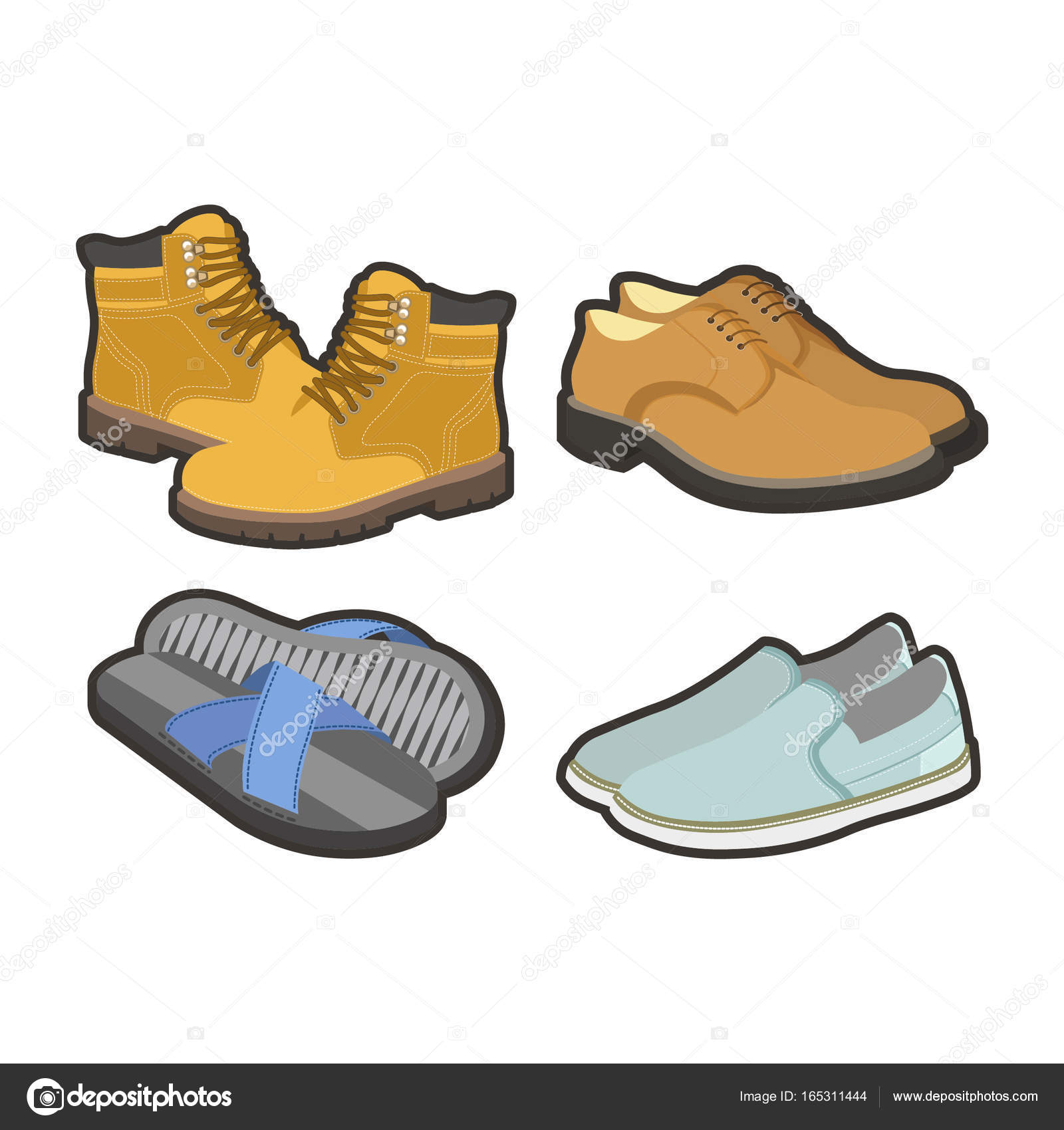 Mens scarpe per tutte le stagioni — Vettoriali Stock © Sonulkaster ... bb48ee63ac9