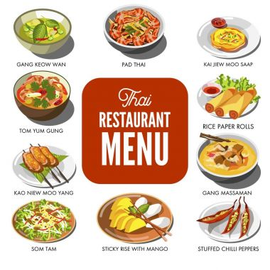 Thai cuisine traditional dishes