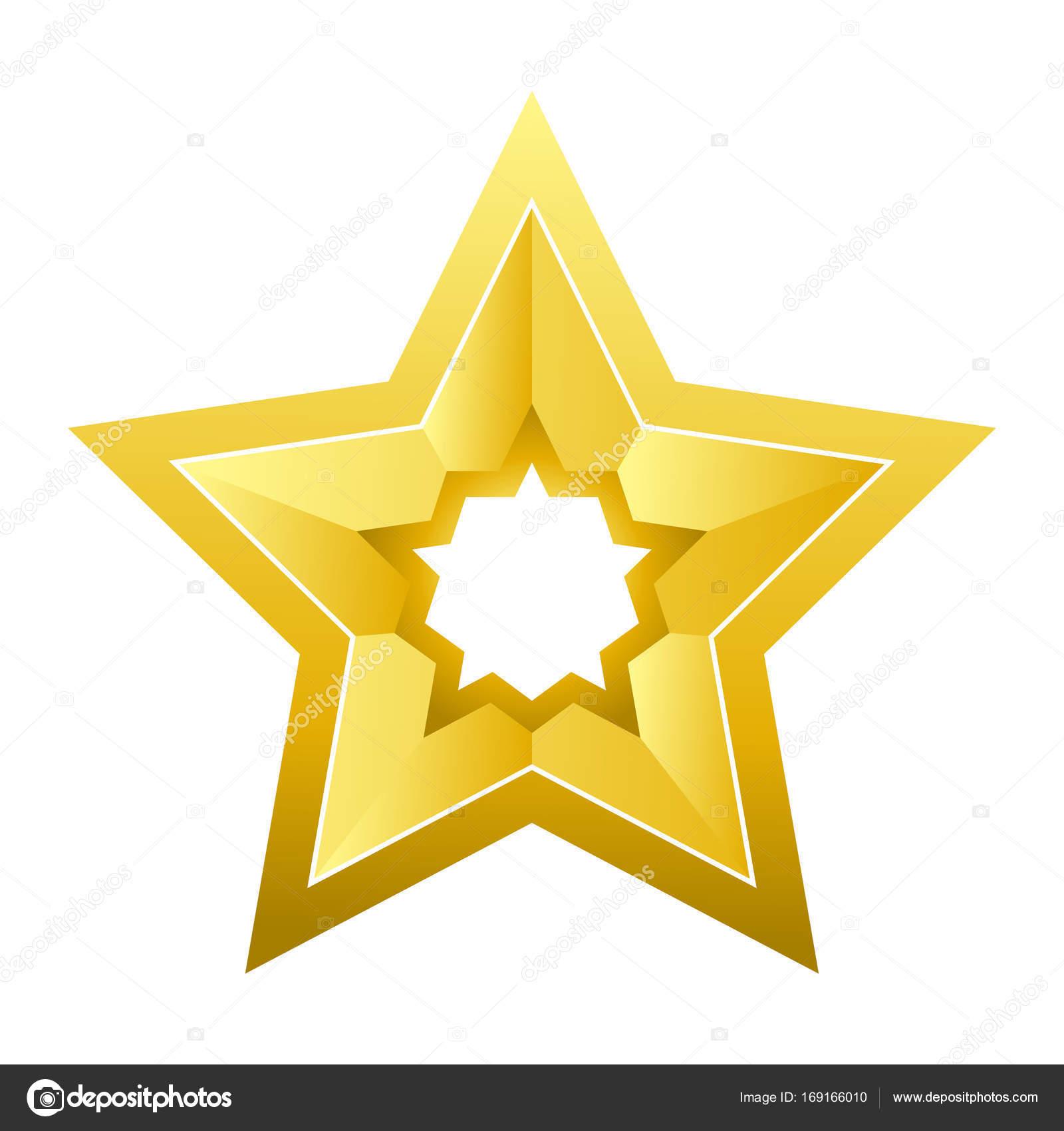 goldenen fünfzackigen Stern — Stockvektor © Sonulkaster #169166010