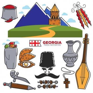 Georgia travel icons