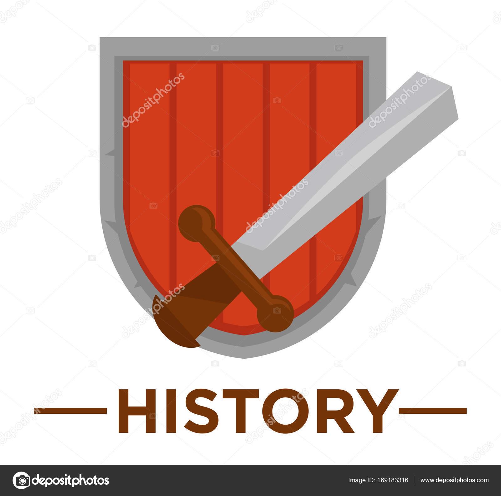Movie history genre icon stock vector sonulkaster 169183316 movie history genre icon with sword and shield symbols for cinema or channel movie genre tag vector by sonulkaster biocorpaavc
