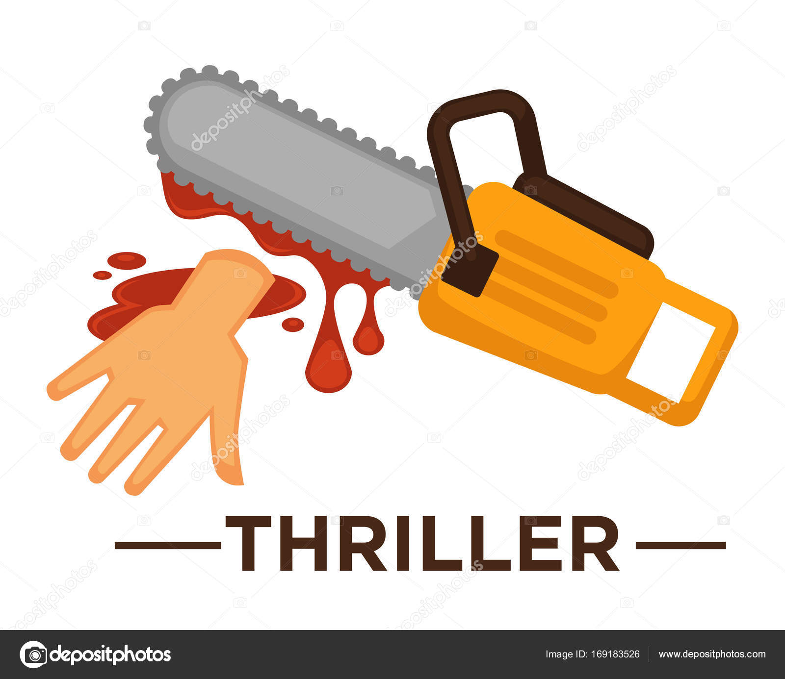 Movie thriller genre icon stock vector sonulkaster 169183526 movie thriller genre icon with saw and hand in blood symbols for cinema or channel movie genre tag vector by sonulkaster biocorpaavc