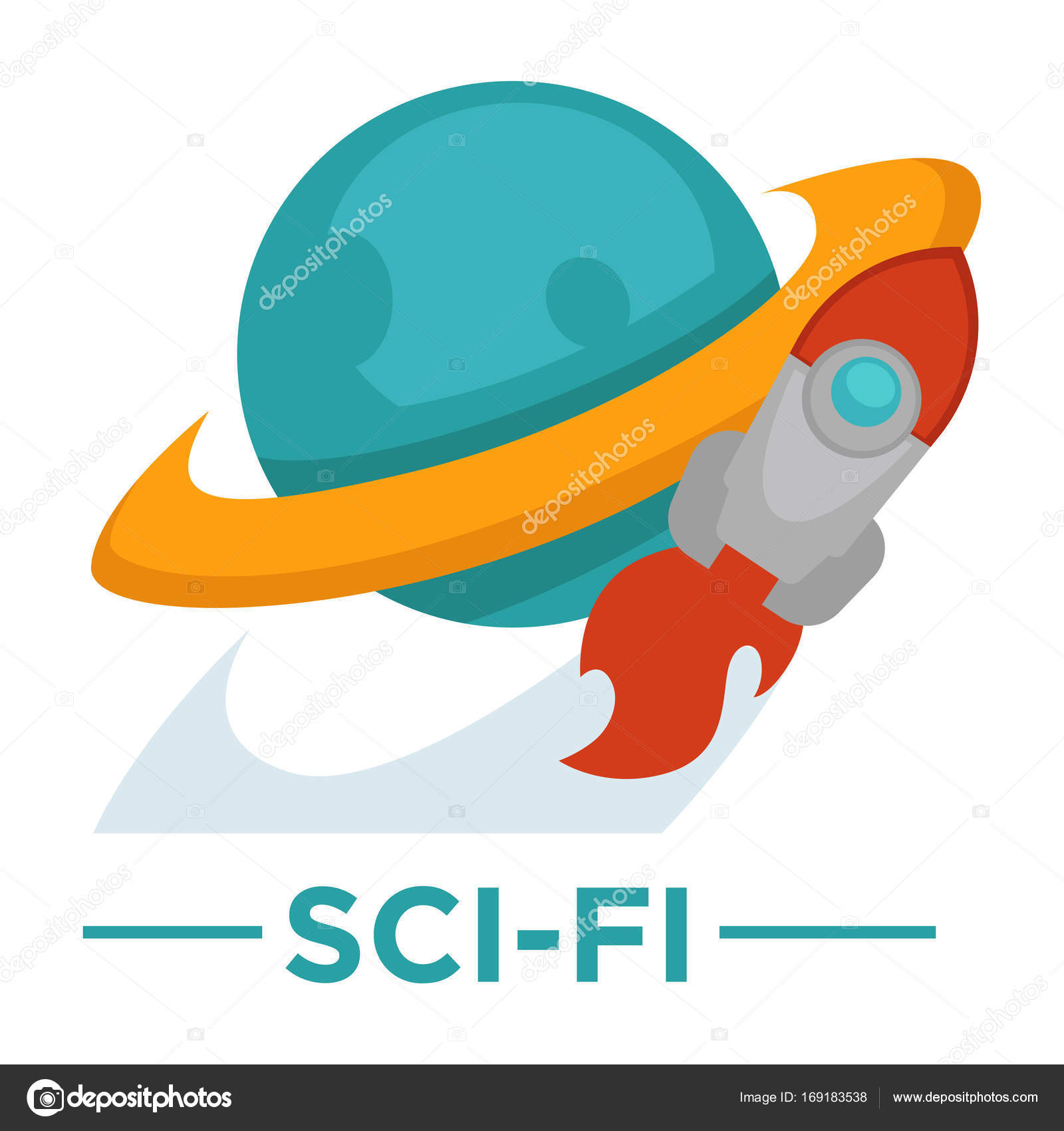 Movie sci fi genre icon stock vector sonulkaster 169183538 movie sci fi genre icon with globe and rocket symbols for cinema or channel movie genre tag vector by sonulkaster biocorpaavc