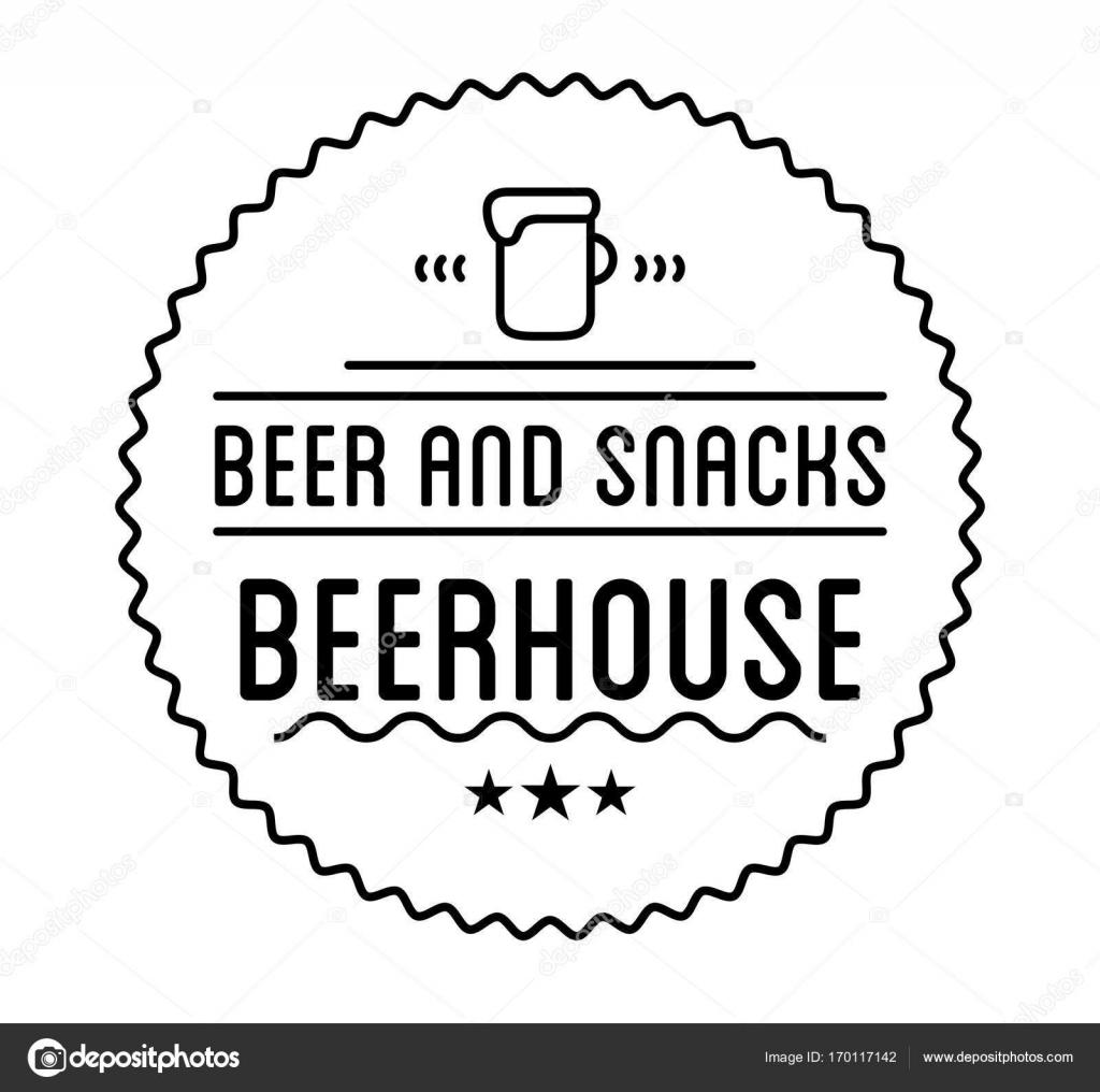 Beer house label template — Stock Vector © Sonulkaster #170117142