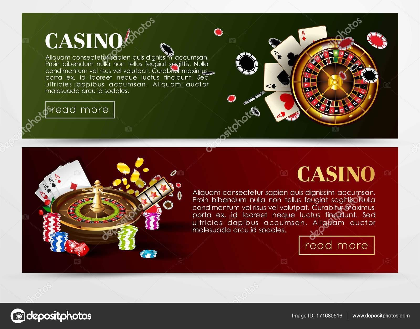 Web de poker casino banners plantillas — Archivo Imágenes ...