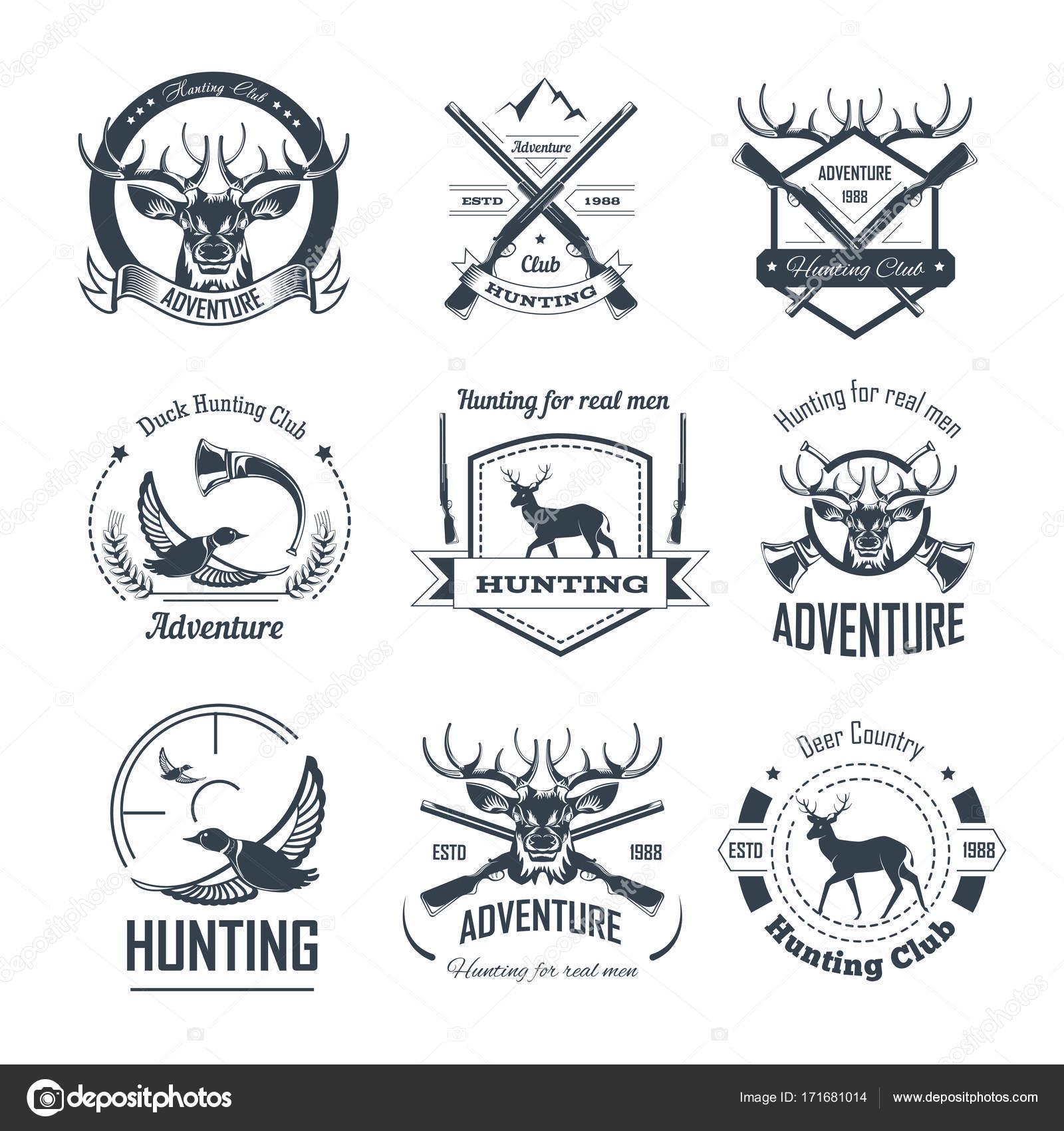 Jagd-Verein-Symbole — Stockvektor © Sonulkaster #171681014