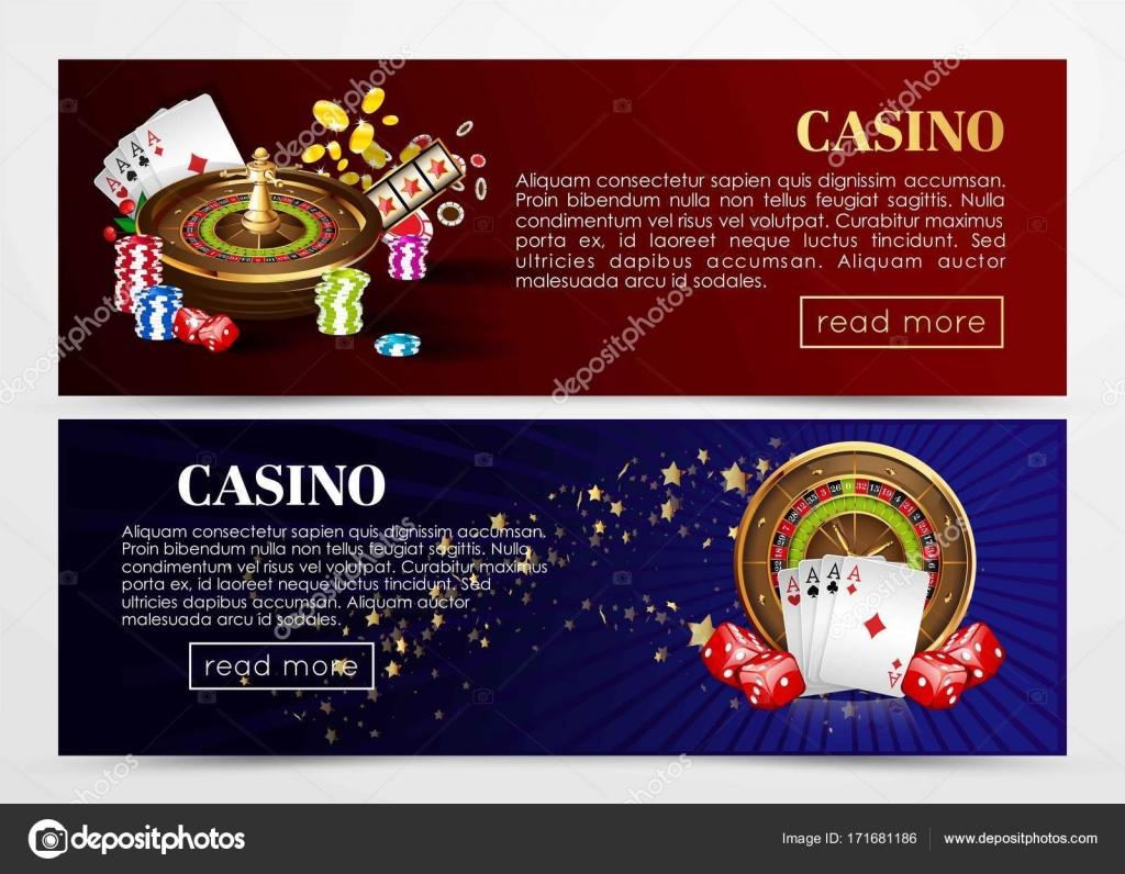 Web de poker casino banners plantillas — Vector de stock ...