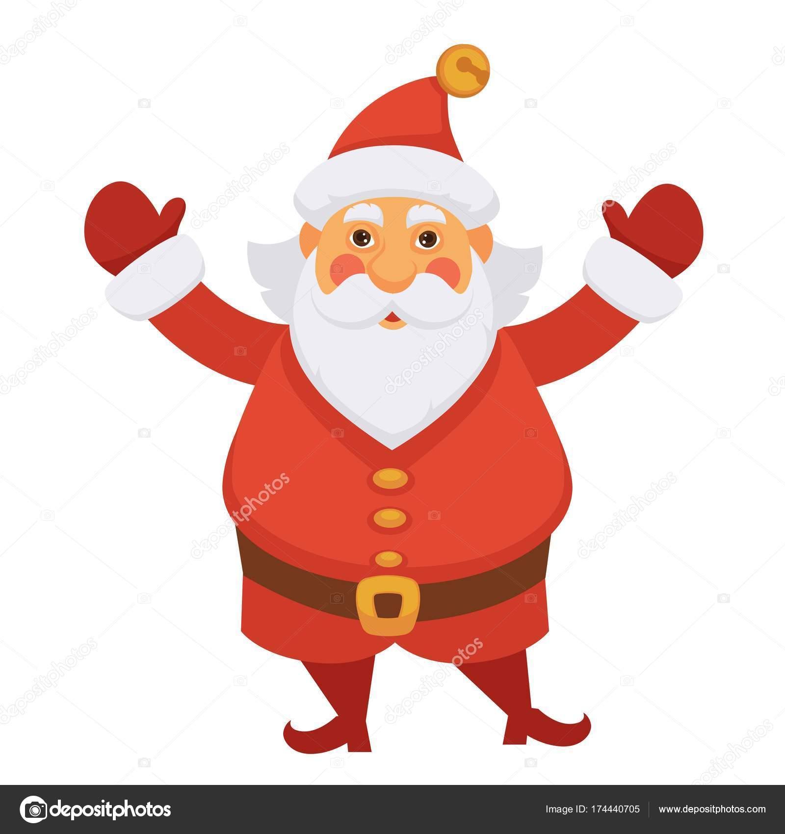 Babbo Natale Cappello Nuovo Anno Disegno Della Cartolina Auguri