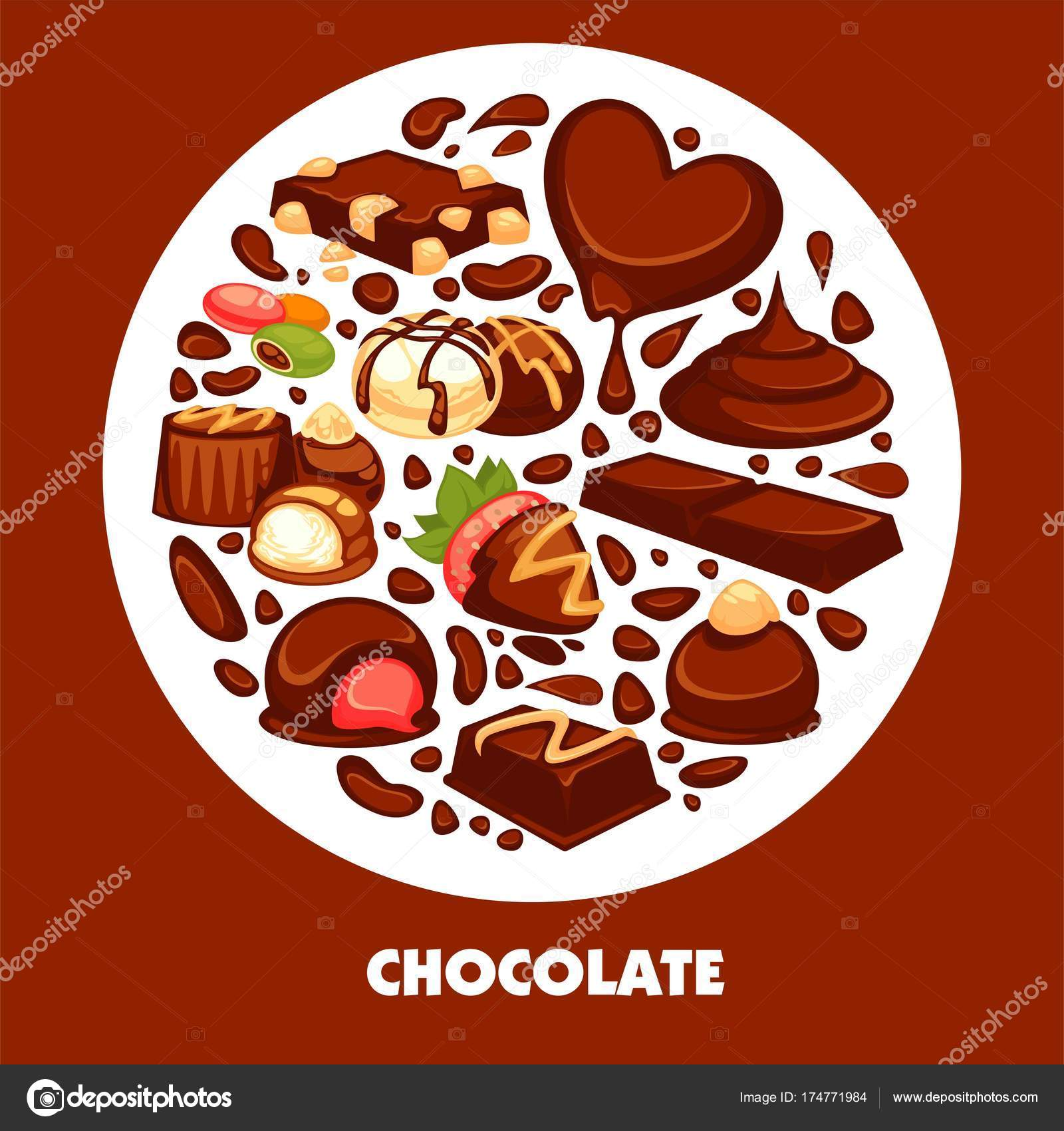 Productos Chocolate Delicioso Cartel Promocional Alta Calidad Barras ...