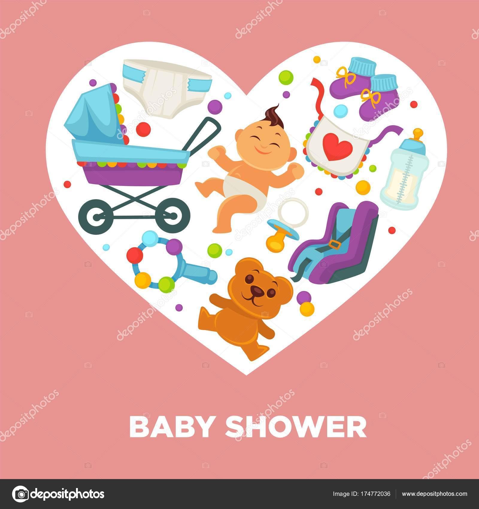 7287d802a4235 Bebé ducha tarjeta de felicitación para el niño o niña niño nacimiento o  invitación cartel. Vectores bebé