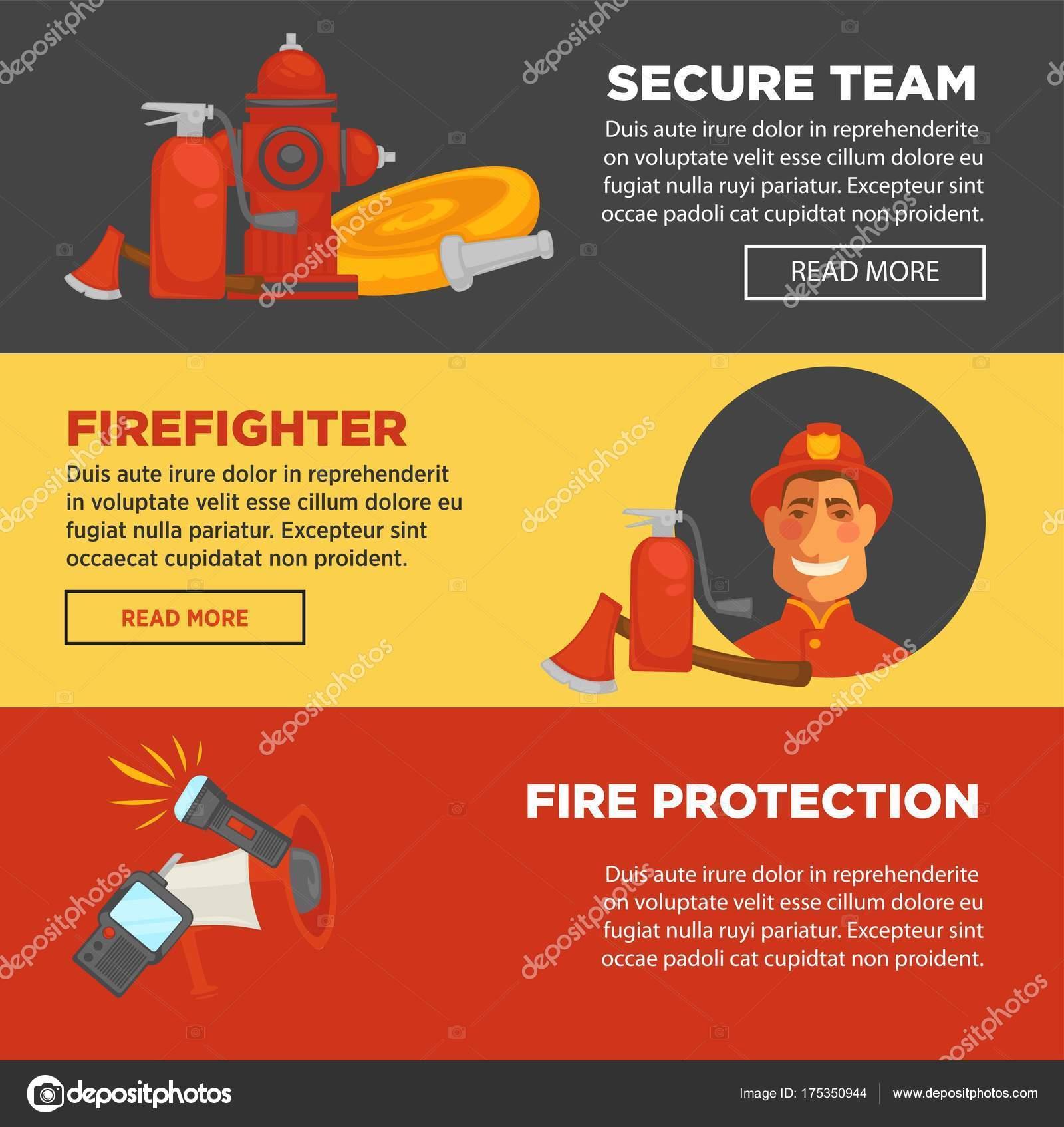 Protección Contra Incendios Equipo Bombero Incendios Seguridad Web ...