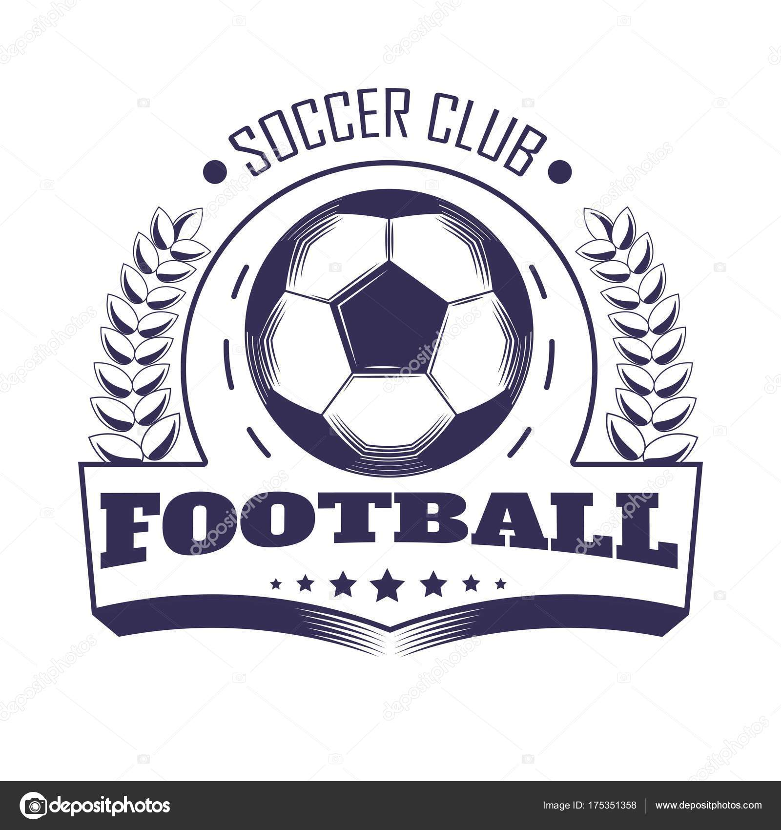 Soccer Club Football Team League Logo Template Vector Line Symbol ...