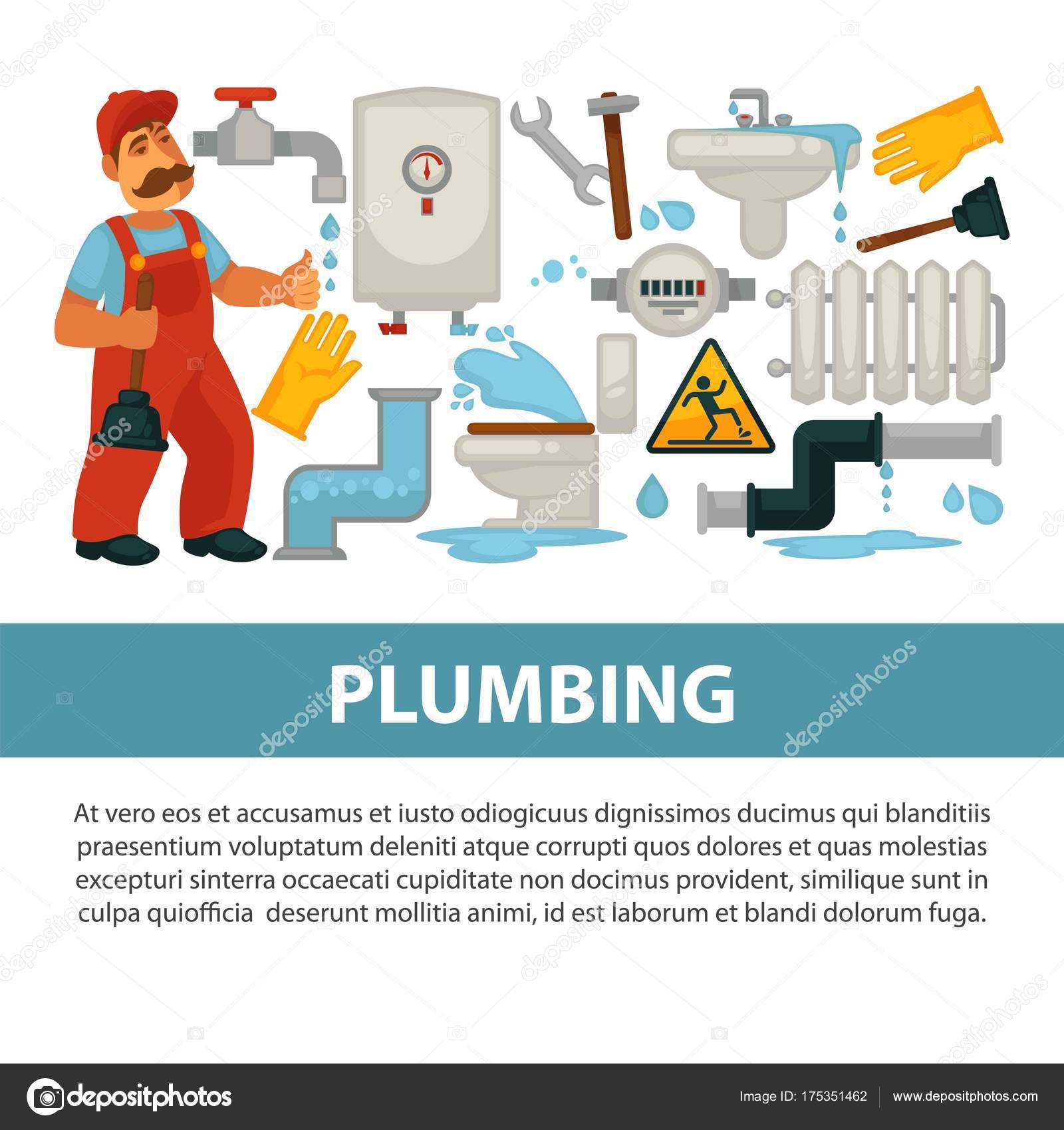 Cartel herramientas trabajo fontanero casa plomer a - Herramientas de fontanero ...