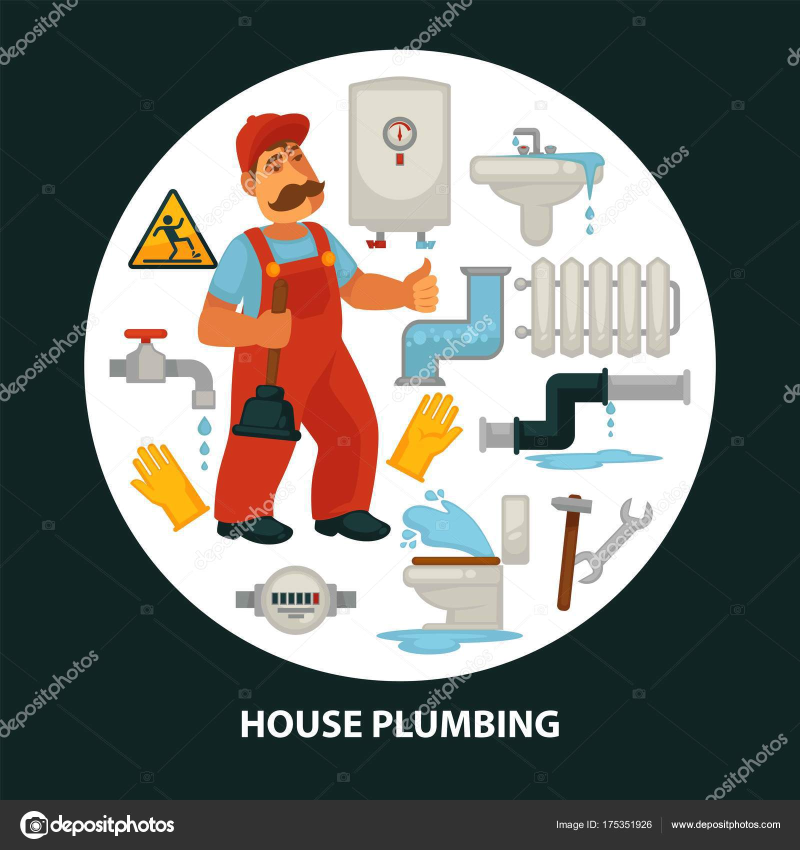 Huis Service Affiche Voor Keuken Badkamer Riolering Lekkage ...
