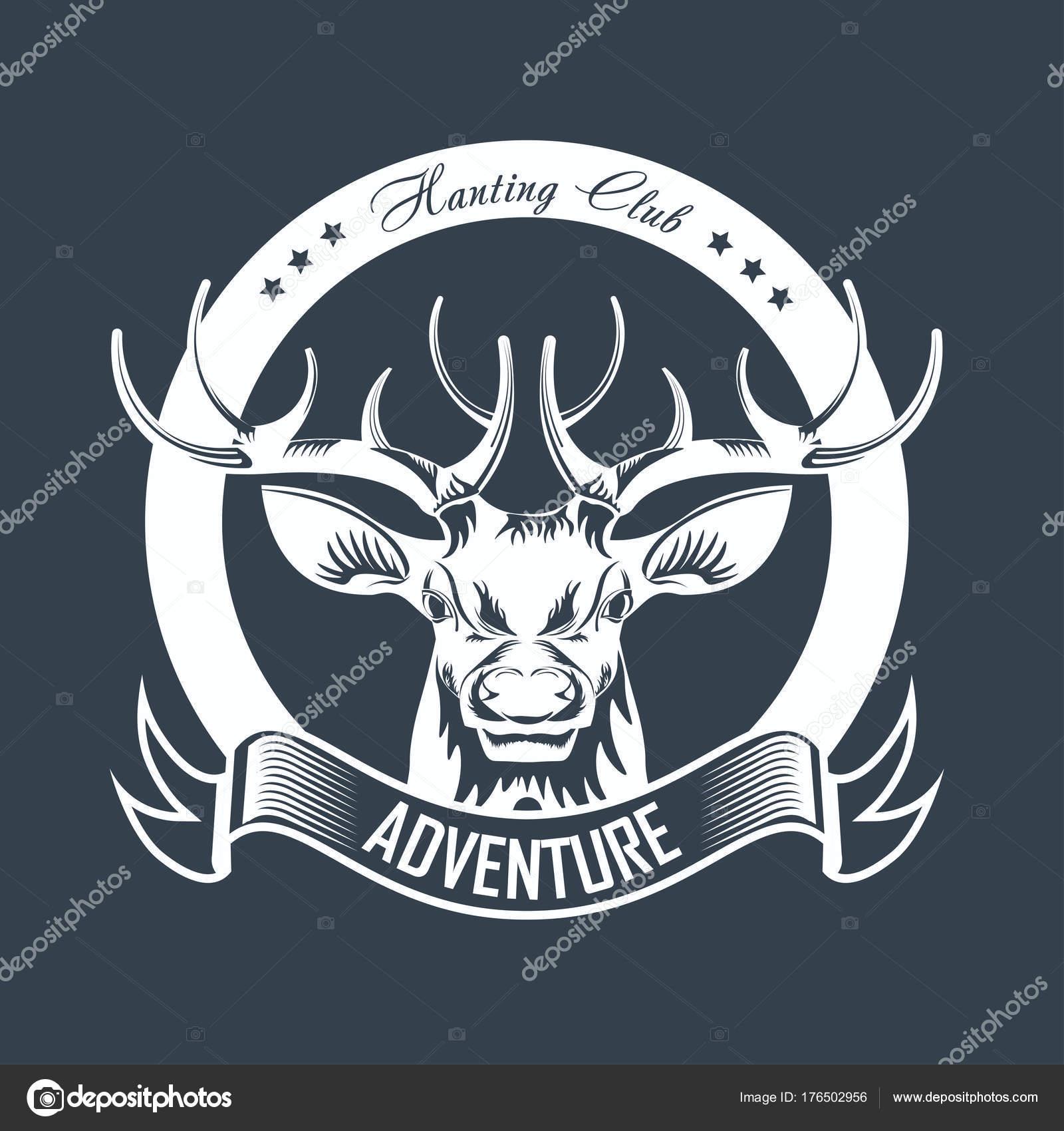 Club Oder Jagd Abenteuer Logo Vorlage Auf Die Jagd Vektor ...