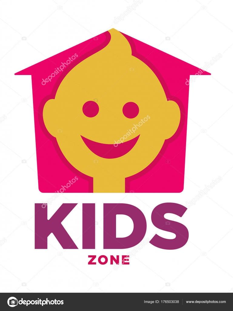 Los Niños Zona Plantilla Logotipo Niño Palma Manos Burbuja Del ...