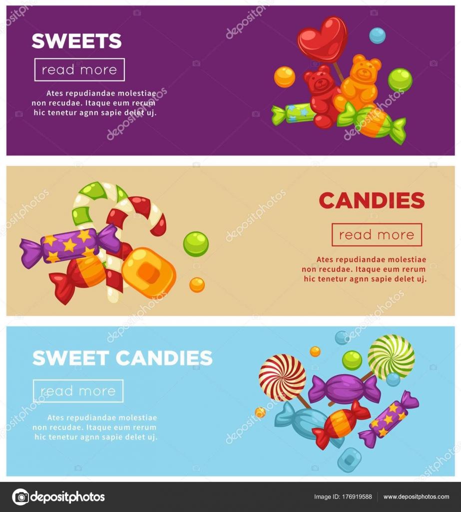 Plantillas Carteles Internet Promocionales Caramelos Dulce Delicioso ...