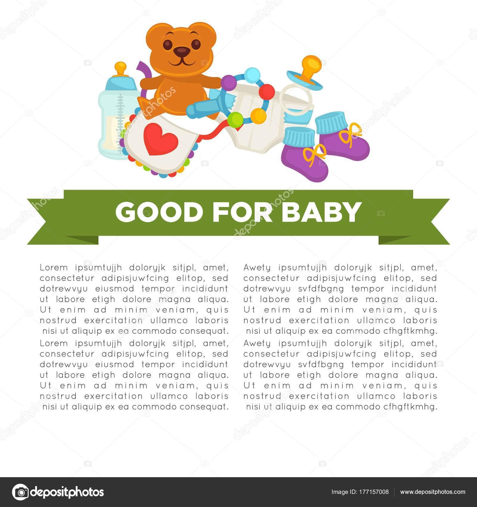 87ef7bb33 Madre Feliz Maternidad Cartel Niño Recién Nacido Mujer Joven Vector —  Vector de stock