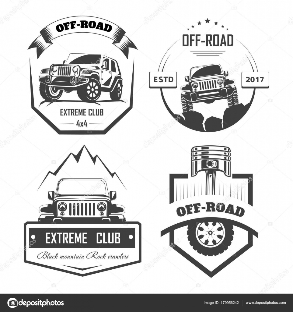 Road Extreme Auto Club Logo Vorlagen Vektor Symbole Und Ikonen ...