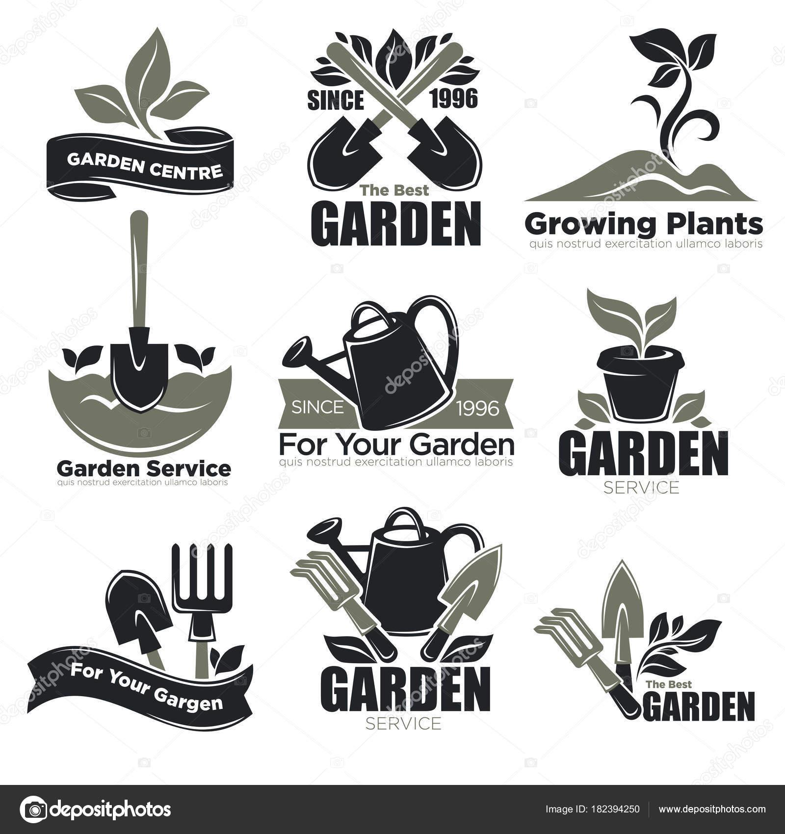 Servicio Jardinería Plantas Jardín Logotipo Plantillas Para ...