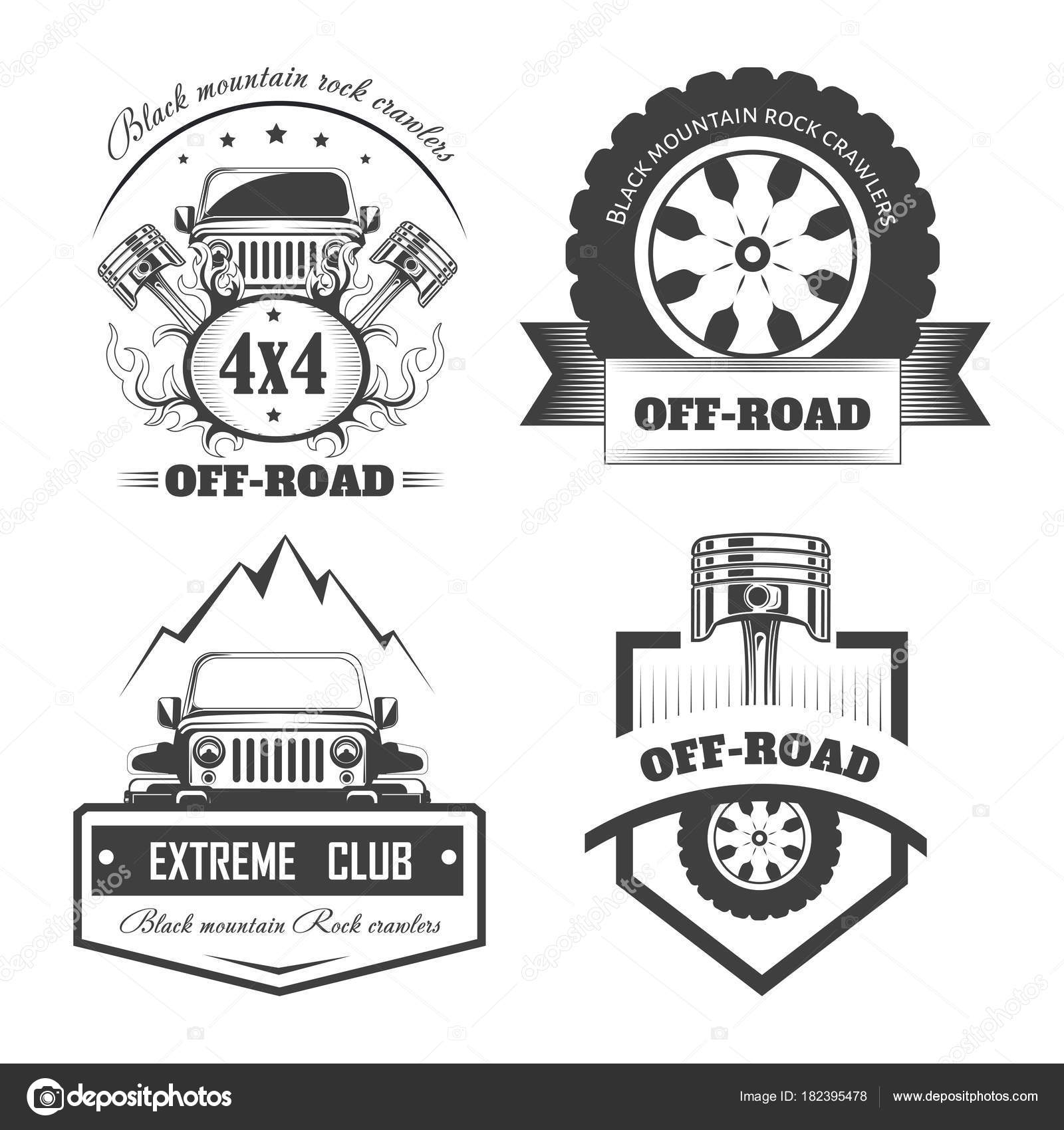 Road Extreme Auto Club Logo Vorlagen — Stockvektor © Sonulkaster ...