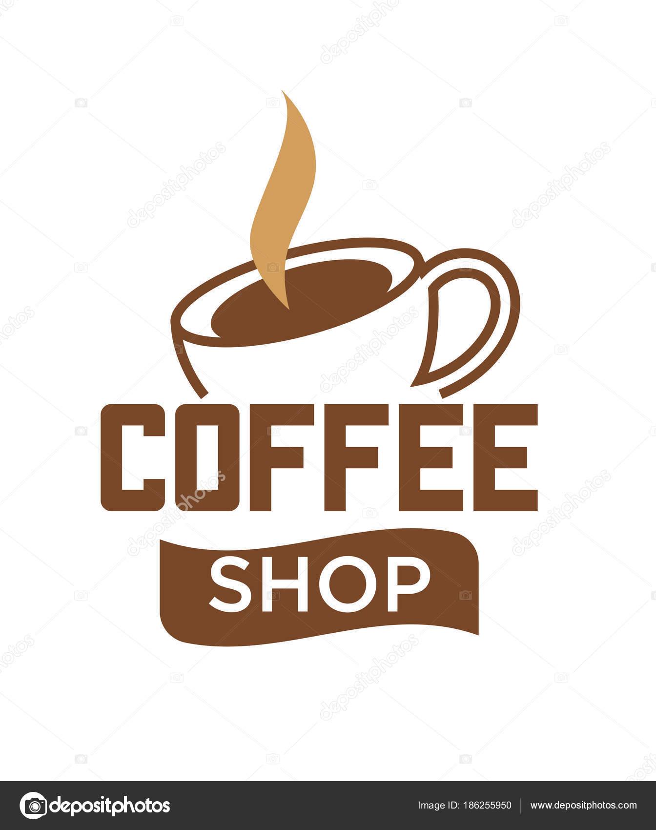 Kaffeetasse Und Heißer Dampf Logo Vorlage Für Coffee Shop ...