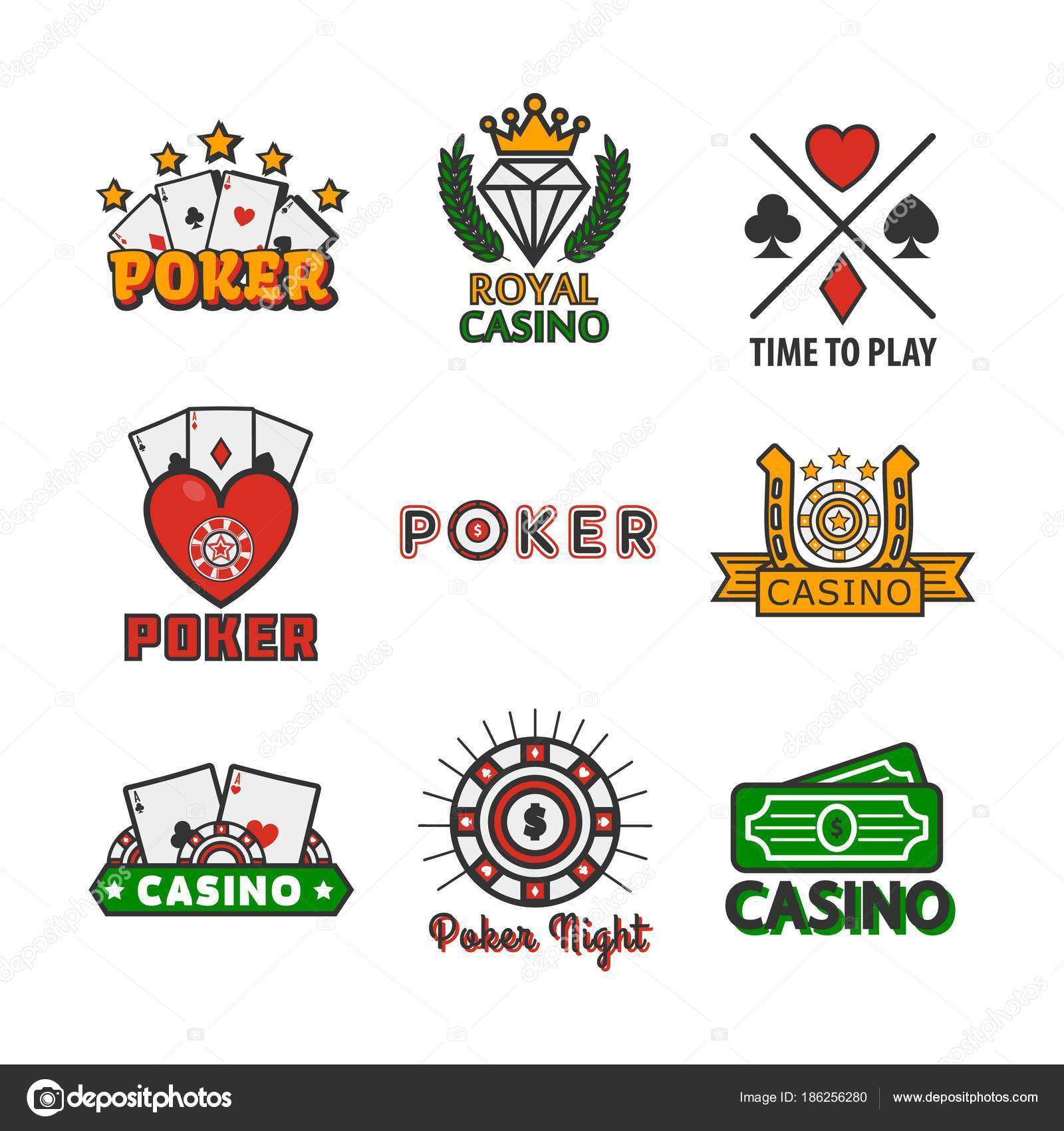 Casino Poker Game Logo Templates Online Internet Gamboling Bets ...