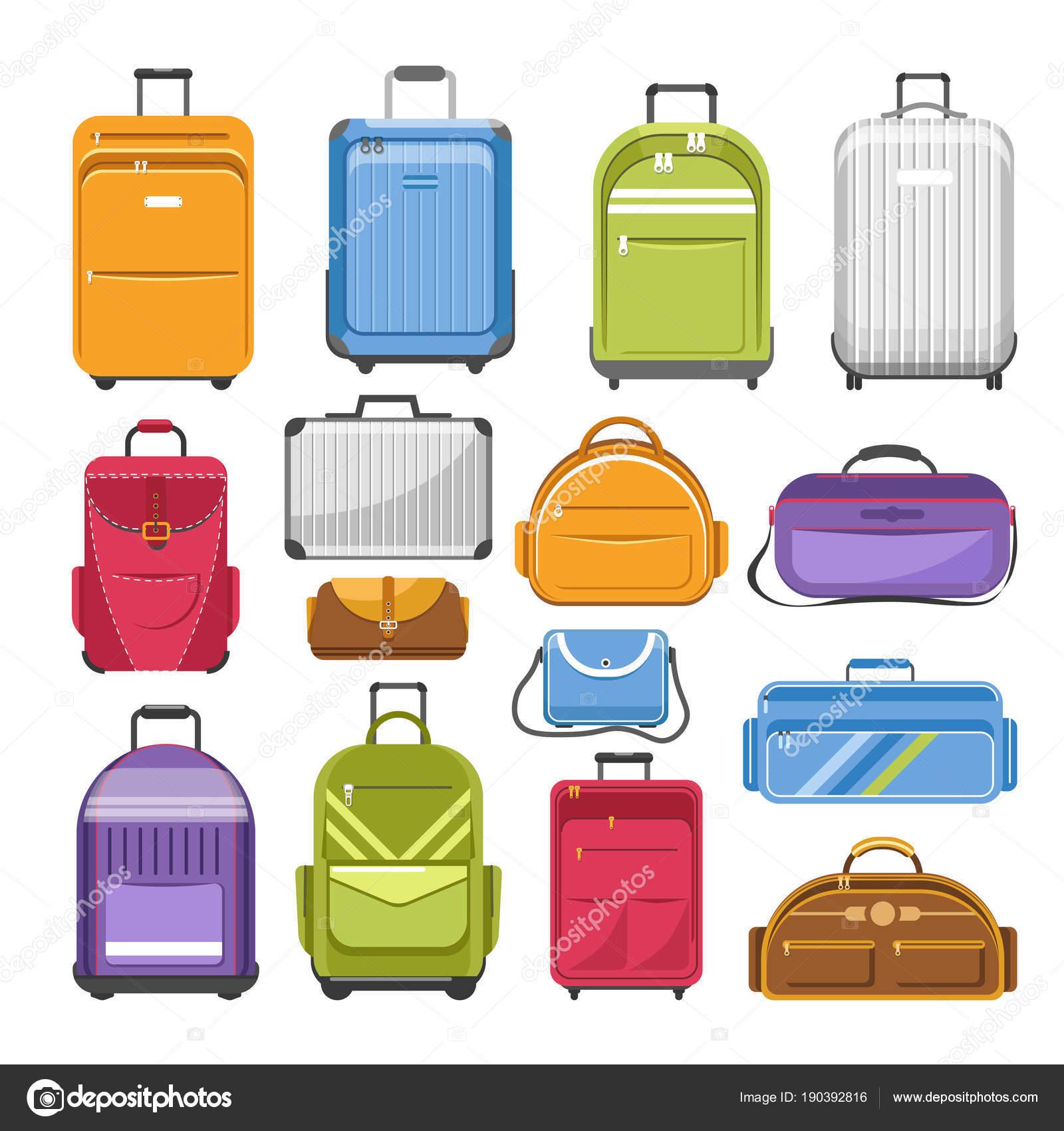 ab2d451506 Τσάντες Διαφορετικά Πληκτρολογήστε Μοντέλα Τσάντα Ταξιδιού Γρι Γρι Σακίδιο  Και — Διανυσματικό Αρχείο