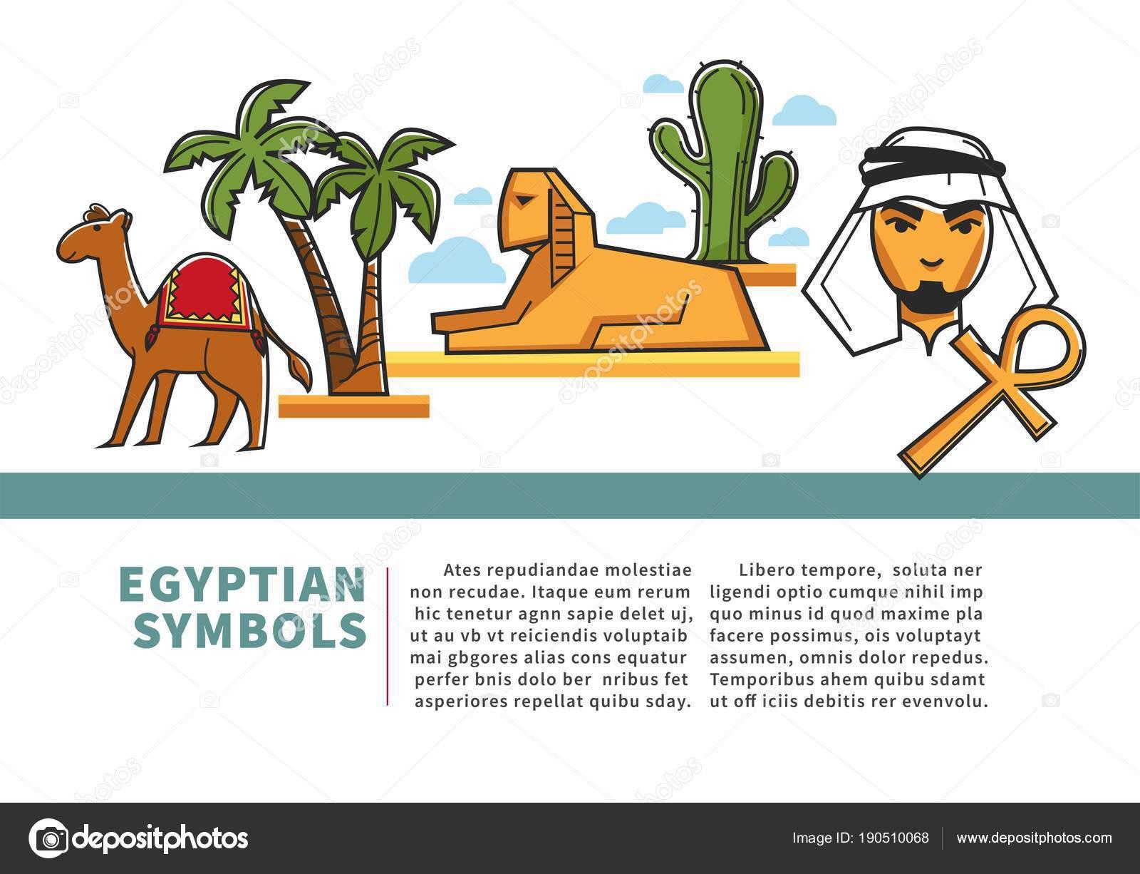 832bbb73b Egipto Agencia Viajes Turismo Cartel Hito Egipcio Símbolos Atracciones  Turísticas — Archivo Imágenes Vectoriales