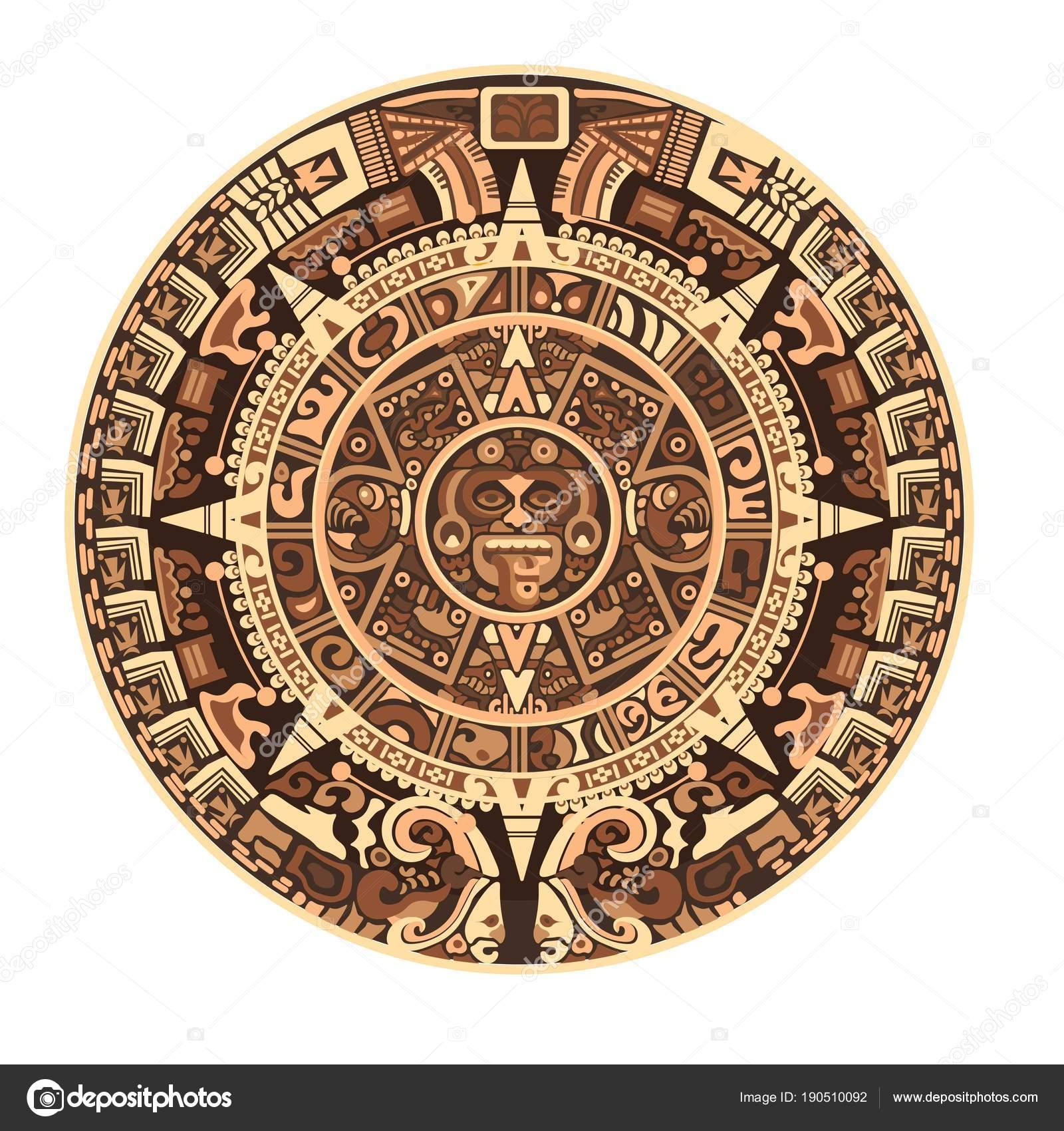 Calendario Inca Simbolos.Vector Calendario Maya Maya Calendario Maya Azteca