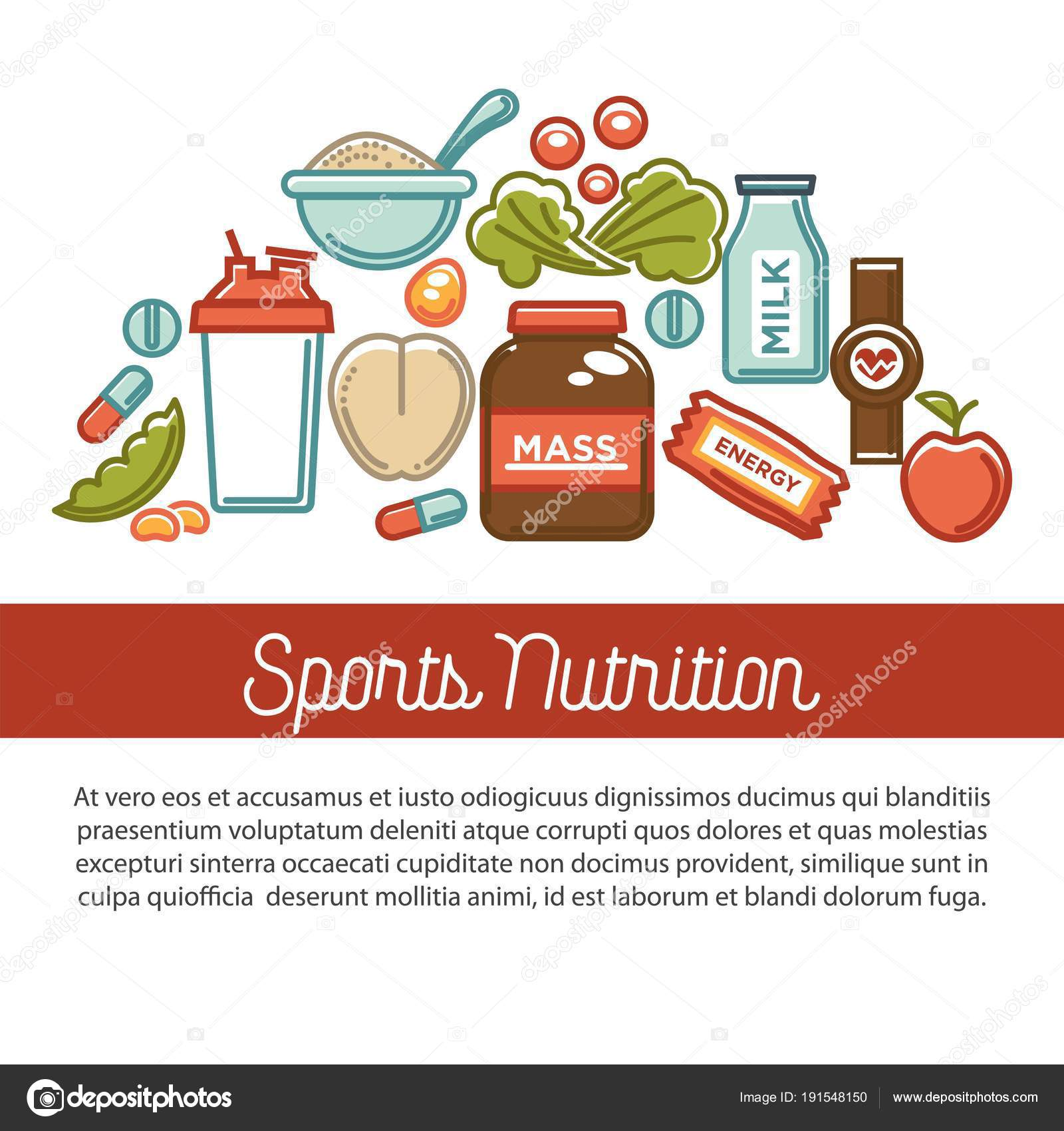 fitness food poster sports healthy diet food nutrition poster vector