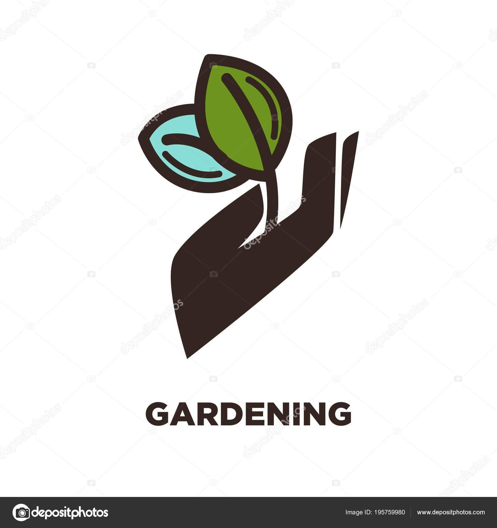 Plantilla Logo Icono Para Granjero Jardín Servicio Jardinero ...
