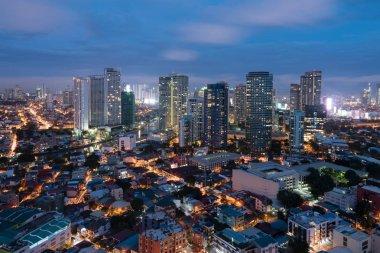 Makati Skyline, Metro Manila, Philippines.