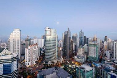 Makati Skyline in Metro Manila, Philippines.