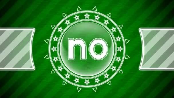 NO ikon kör alakú és zöld csíkos háttér. Illusztráció.