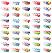 Collection of flags in white background. 3D Illustration.