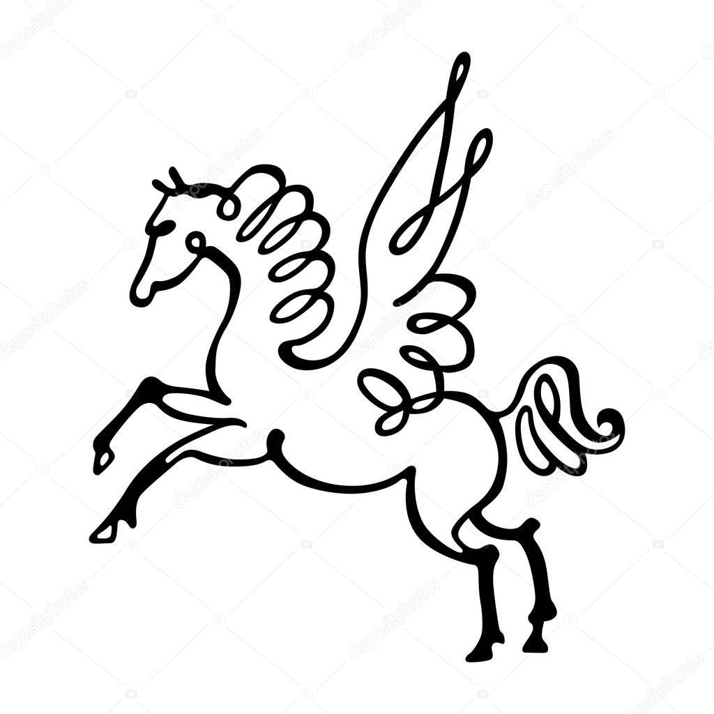 Cavallo stilizzato una foto vettoriali stock den for Cavallo stilizzato