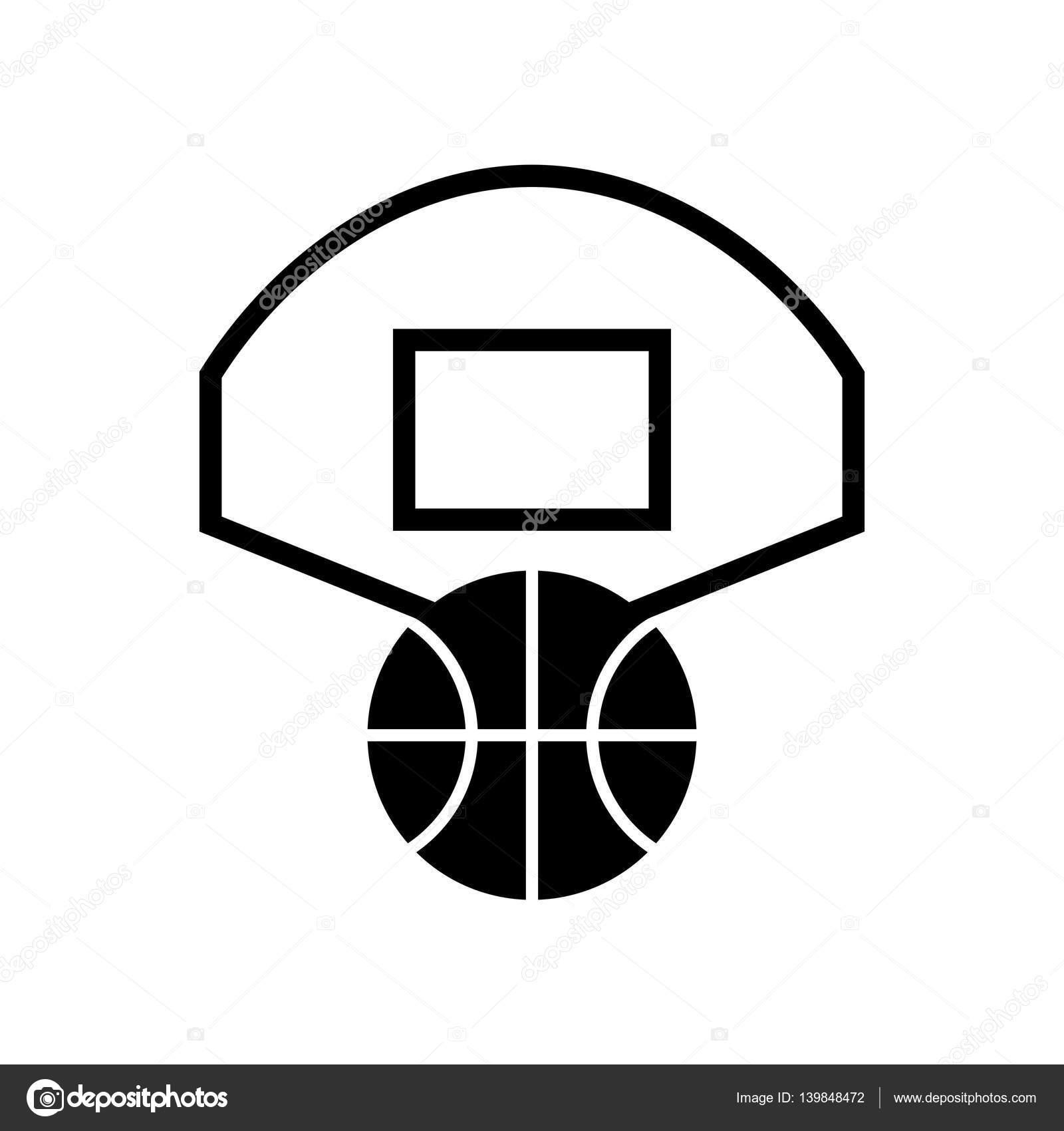 symbole de basketball noir et blanc � image vectorielle