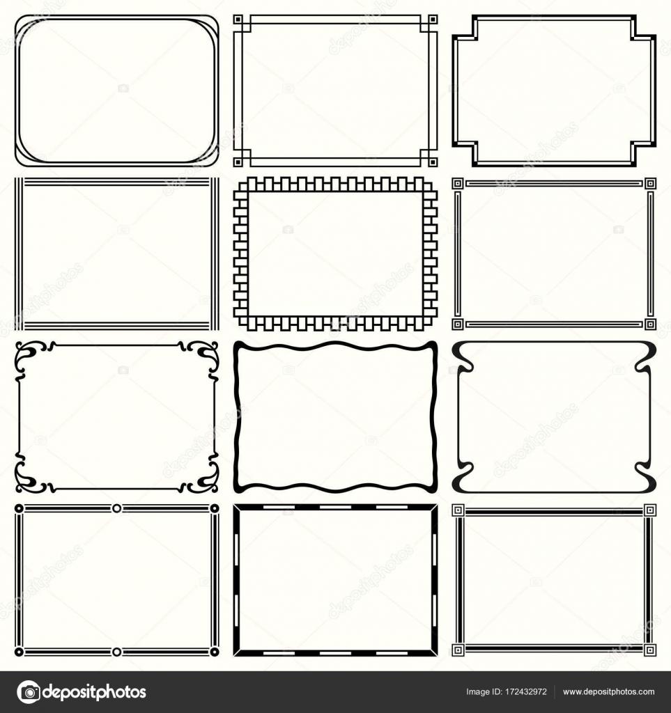 dekorative einfache Rahmen — Stockvektor © Den.Barbulat #172432972