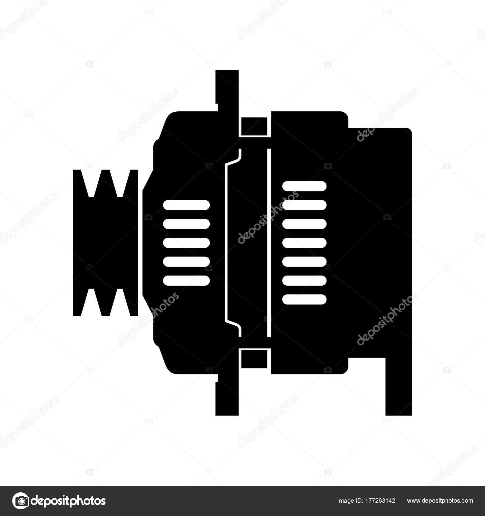 Auto Kfz Lichtmaschine Schatten Bild — Stockvektor © Den.Barbulat ...